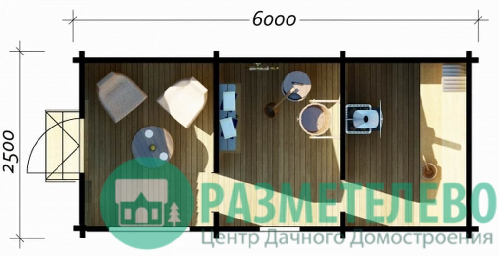 Баня «ХИТ» 6000 х 2500 (04)