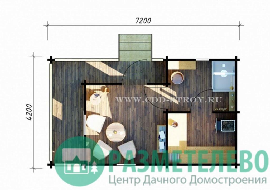 Баня с террасой 4000 х 7000 (09)