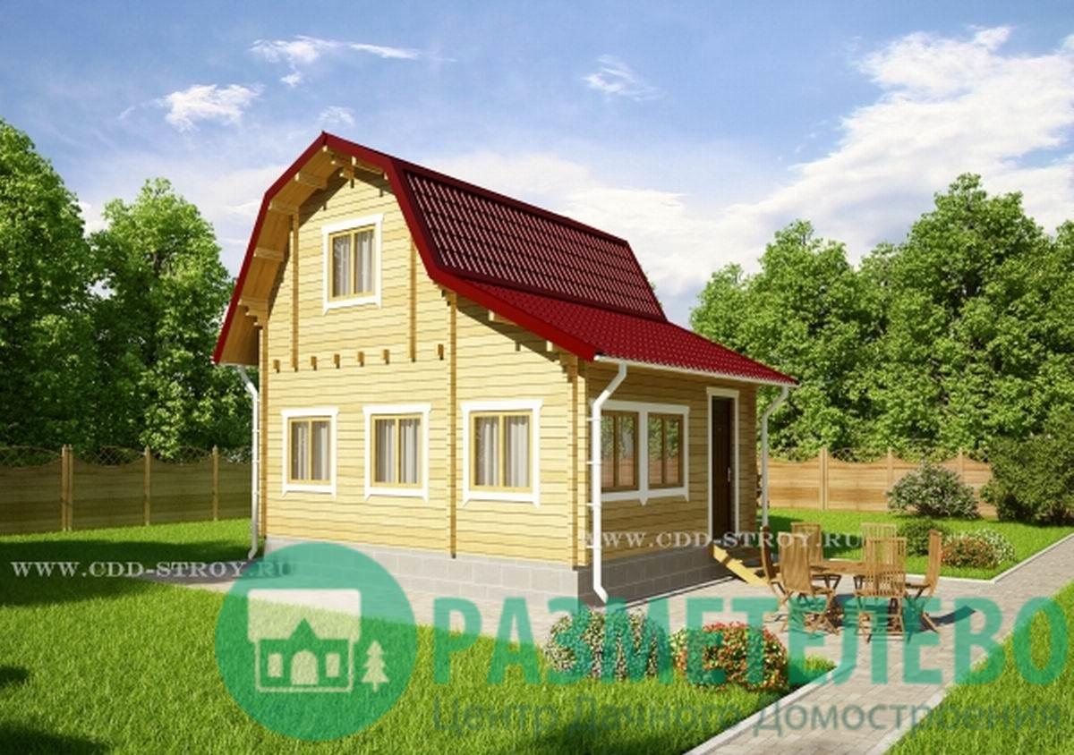 """Дачный двухэтажный дом 0701 """"Зеландия"""""""