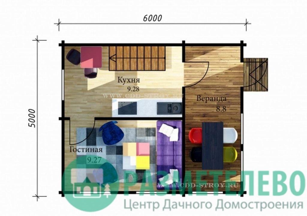 """Дачный двухэтажный дом  """"Зеландия"""" (0701)"""