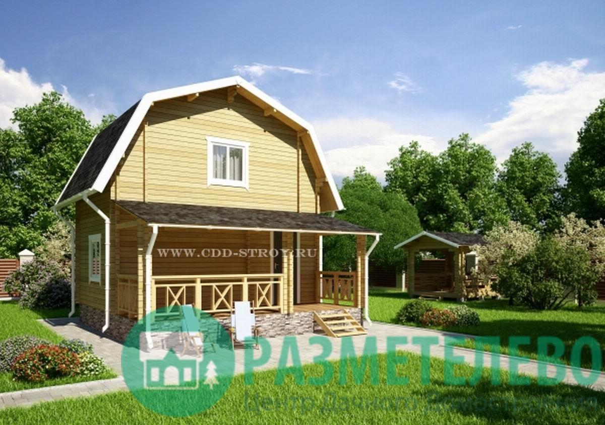 """Дачный двухэтажный дом 0705 """"Бали"""""""