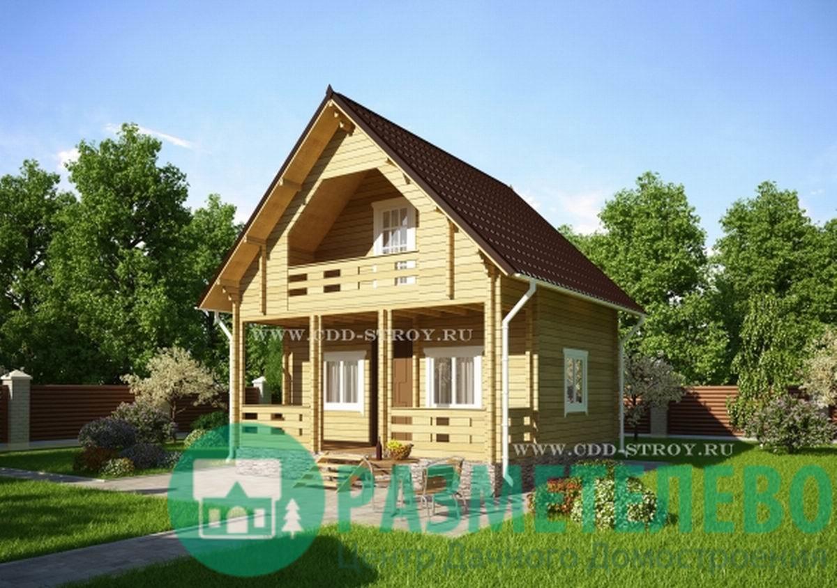 """Дачный двухэтажный дом 0706 """"Борден"""""""