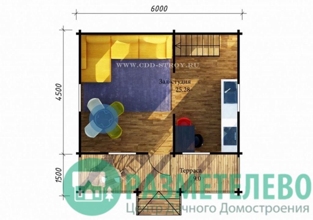 """Дачный двухэтажный дом  """"Борден"""" (0706)"""