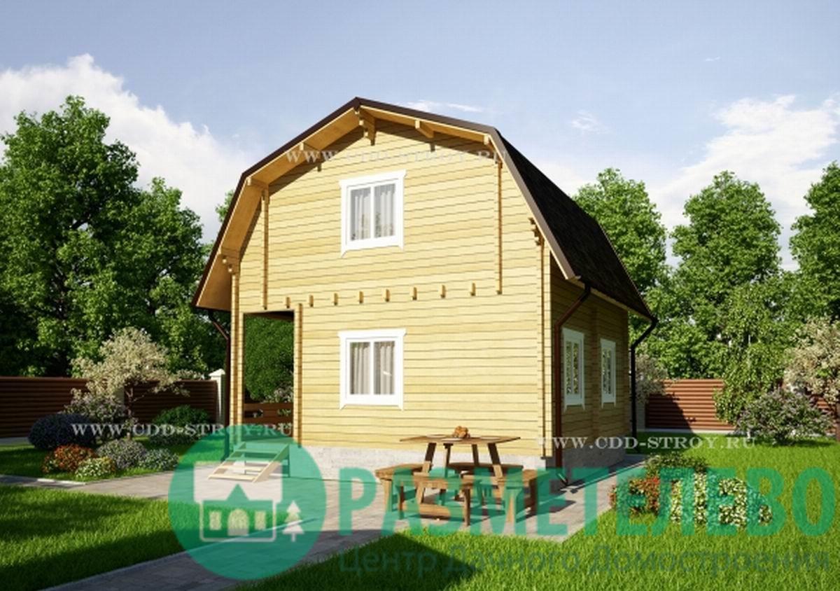 """Дачный двухэтажный дом 0707 """"Бошен"""""""