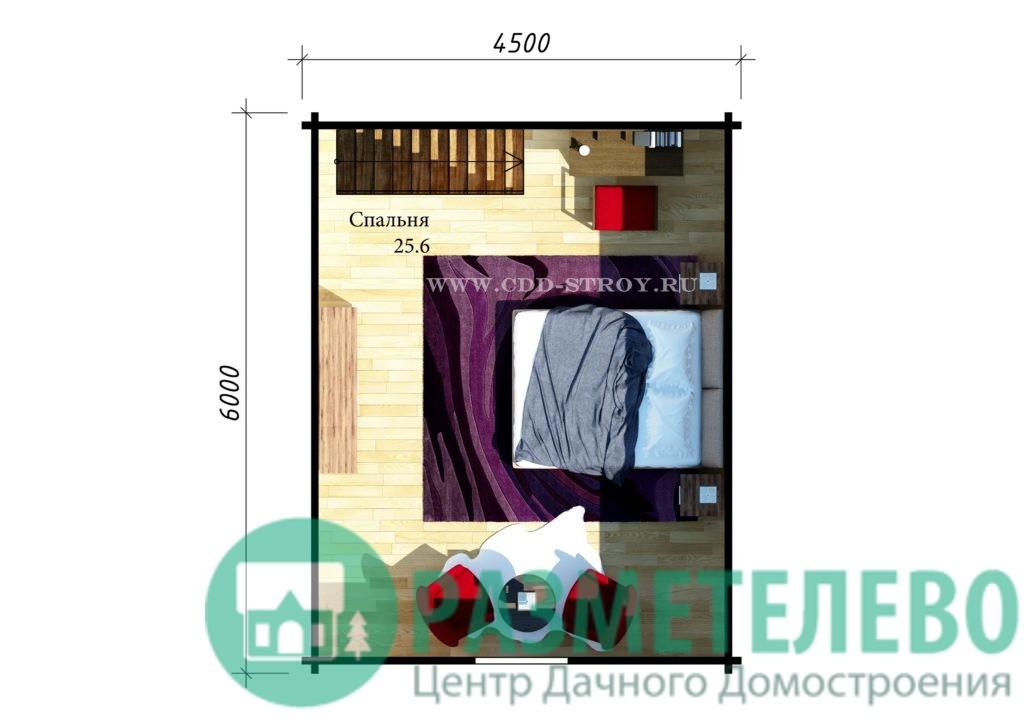 """Дачный двухэтажный дом  """"Бошен"""" (0707)"""