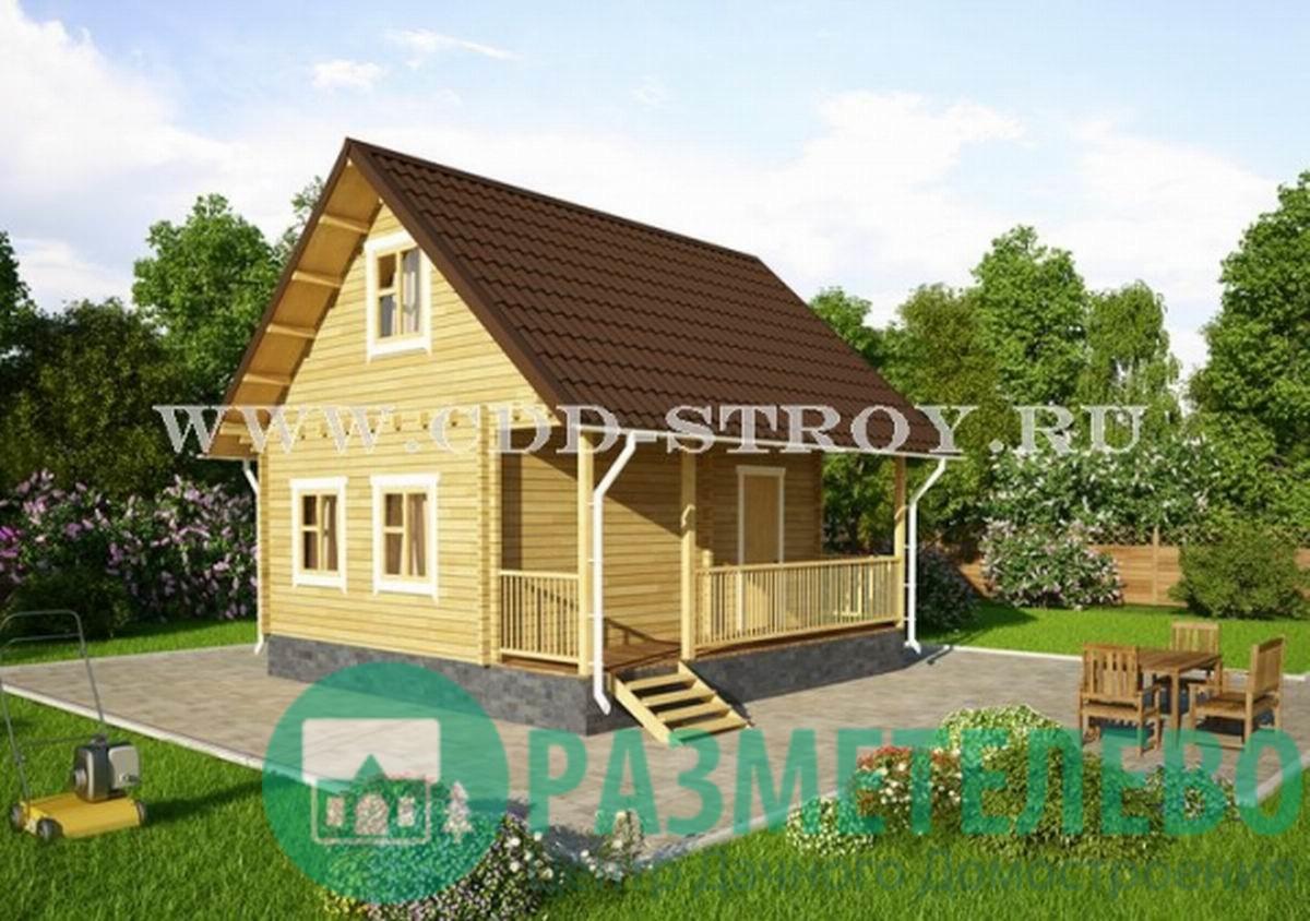 """Дачный двухэтажный дом 0708 """"Аспен"""""""