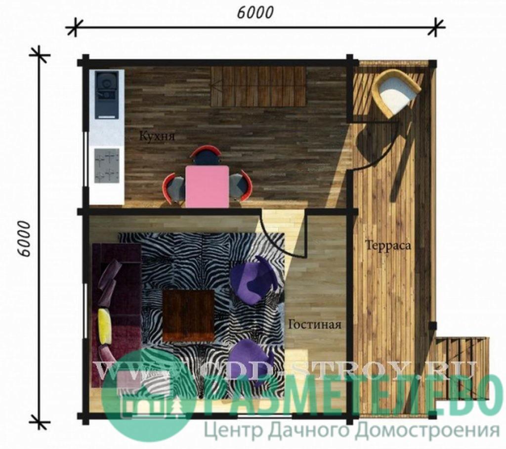 """Дачный двухэтажный дом """"Аспен"""" (0708)"""