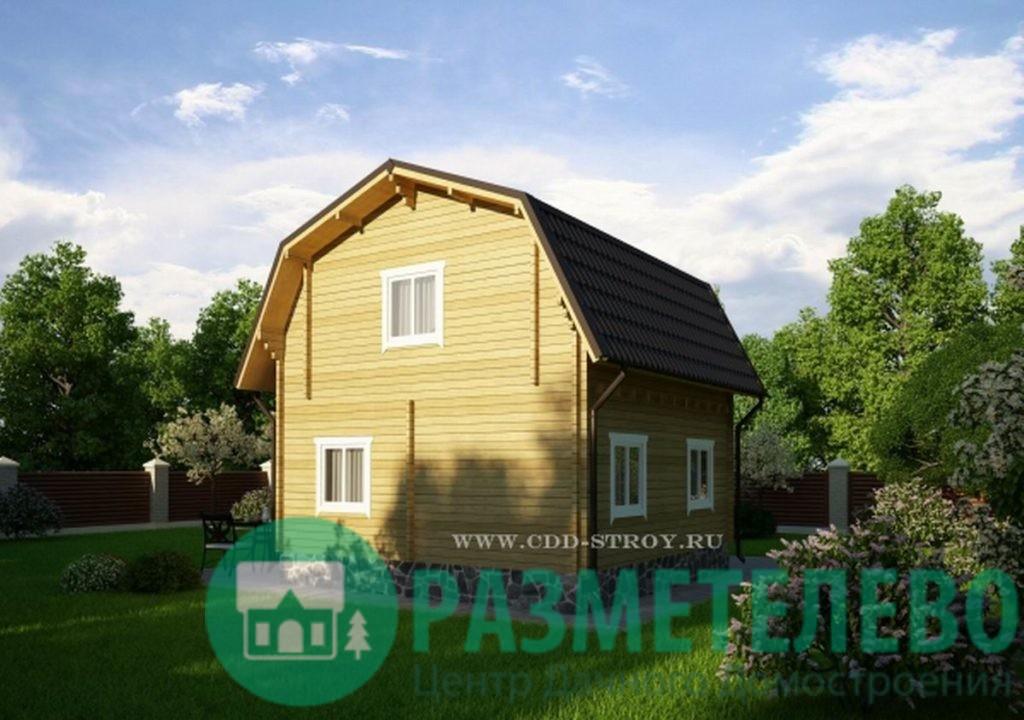 """Дачный двухэтажный дом """"Вейла"""" (0710)"""