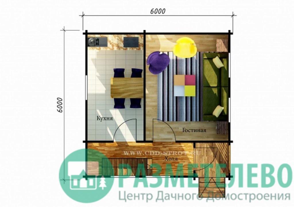"""Дачный двухэтажный дом """"Вейлар"""" (0711)"""