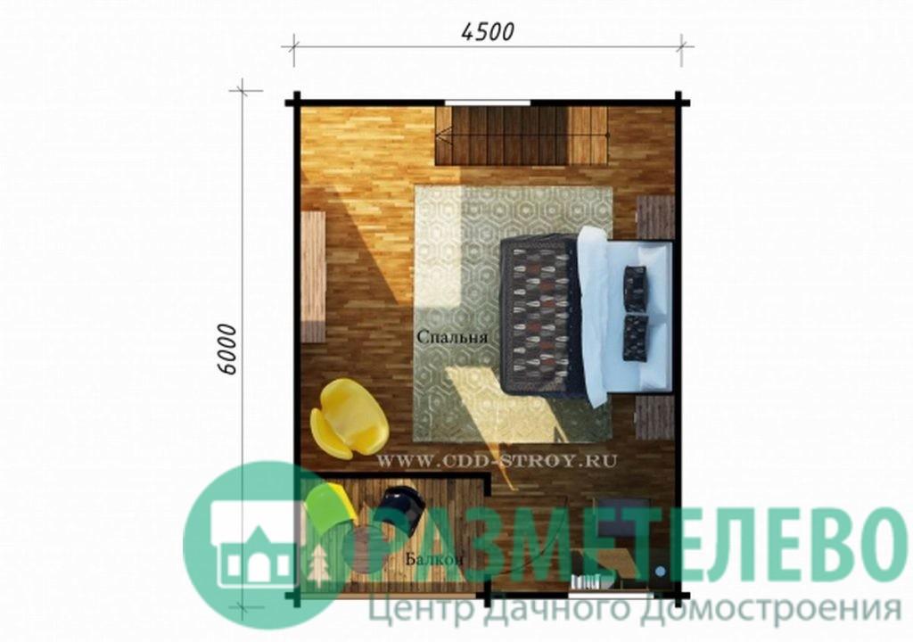 """Дачный двухэтажный дом  """"Вейлария"""" (0712)"""