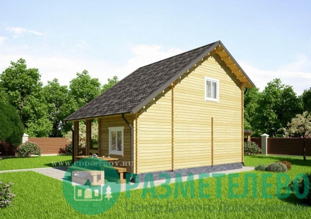 """Дачный двухэтажный дом """"Итака"""" (0719)"""