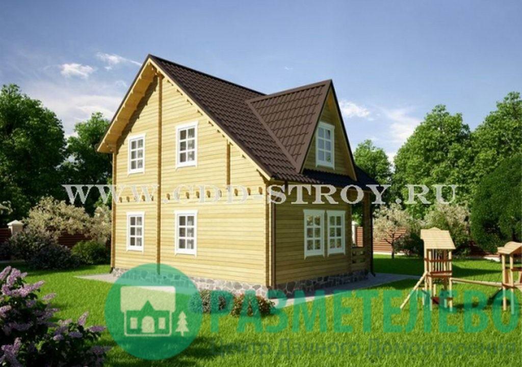 """Дачный двухэтажный дом """"Крокер"""" (0720)"""