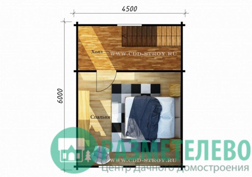 """Дачный двухэтажный дом  """"Монсен"""" (1001)"""