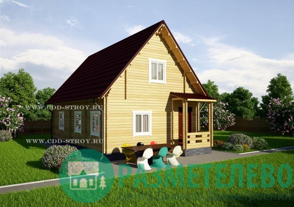 """Дачный двухэтажный дом 1002 """"Огами"""""""