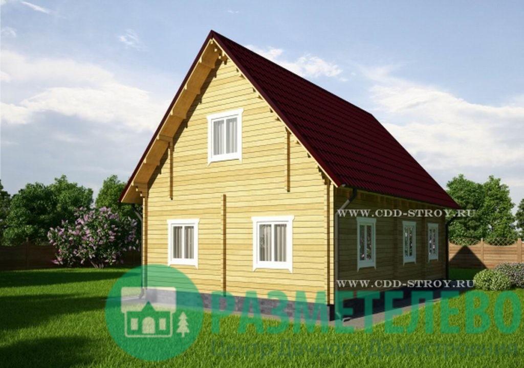 """Дачный двухэтажный дом  """"Огами"""" (1002)"""