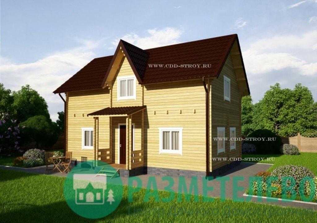"""Дачный двухэтажный дом  """"Пальма"""" (1003)"""