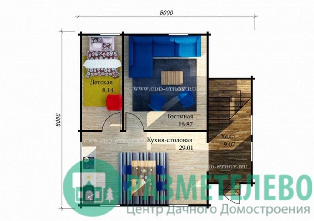 """Дачный двухэтажный дом """"Рио"""" (1005)"""