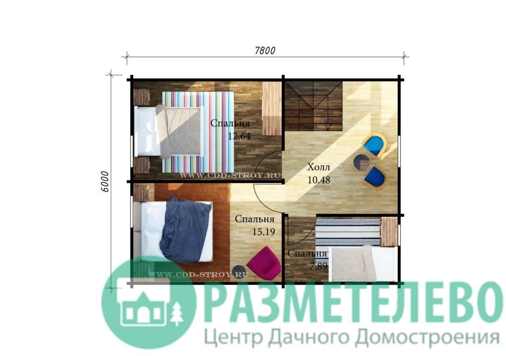 """Дачный двухэтажный дом """"Сицилия"""" (1008)"""