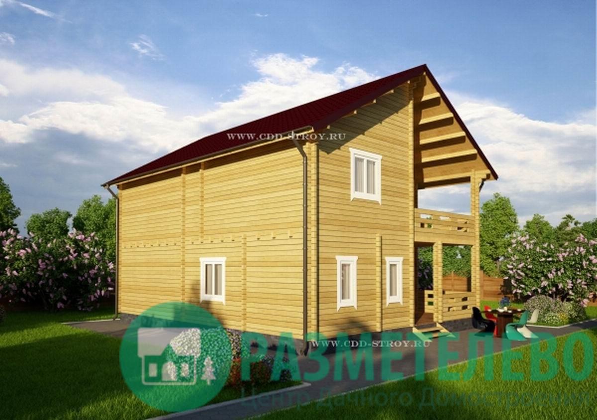 """Дачный двухэтажный дом 1010 """"Тортуга"""""""