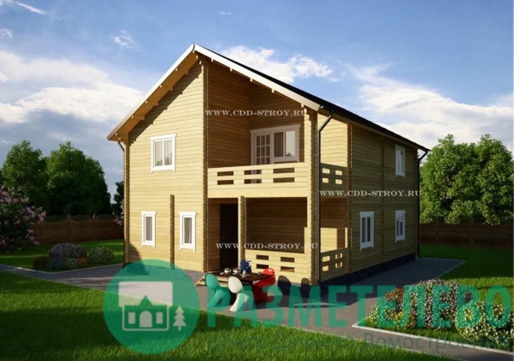 """Дачный двухэтажный дом   """"Тортуга"""" (1010)"""