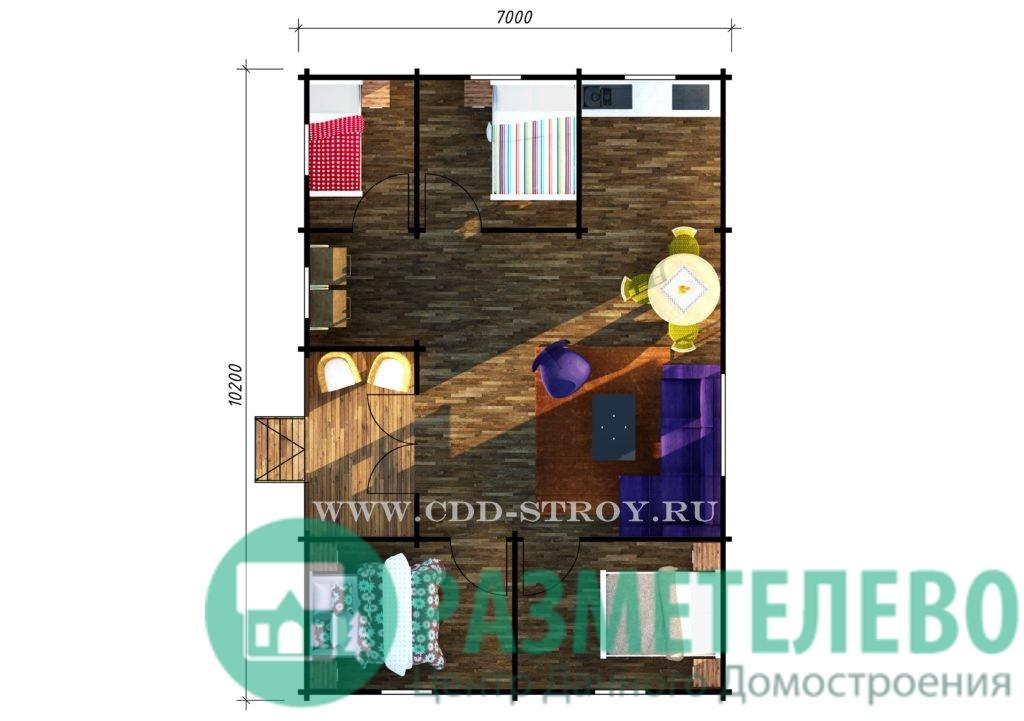 """Дачный одноэтажный дом """"Беата"""" (10200)"""