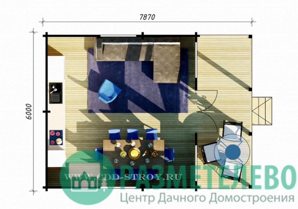 """Дачный одноэтажный дом 6181 """"Манго"""""""