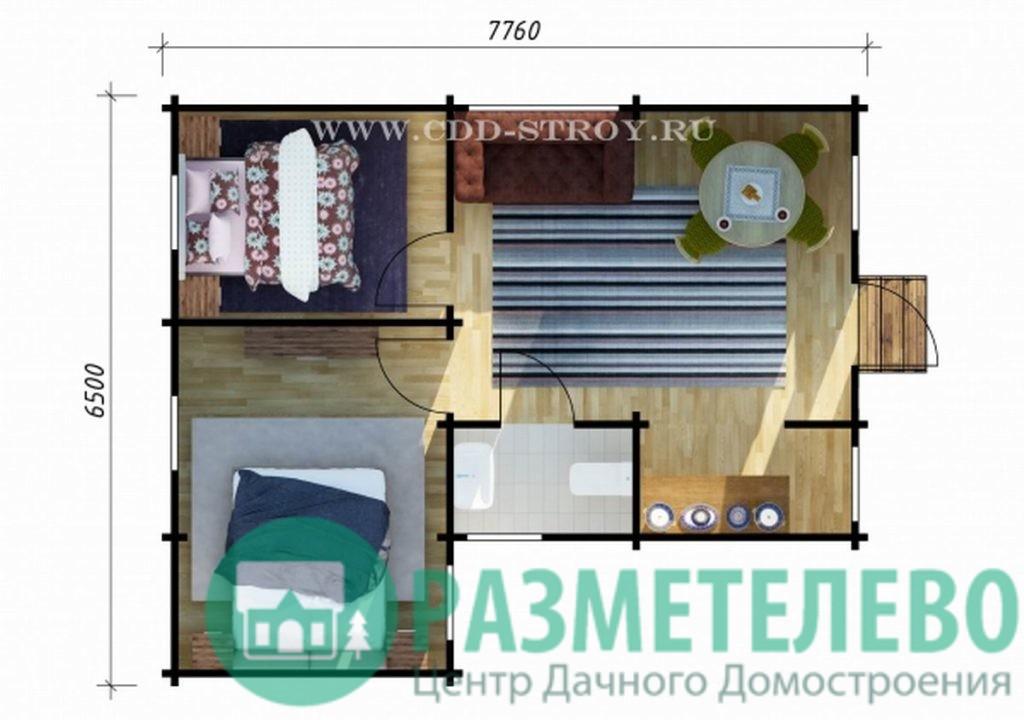 """Дачный одноэтажный дом 6577 """"Скай"""""""
