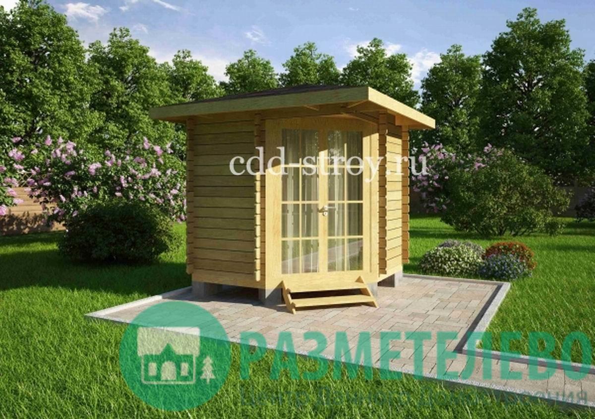 Домик садовый 2400х2400 (02)