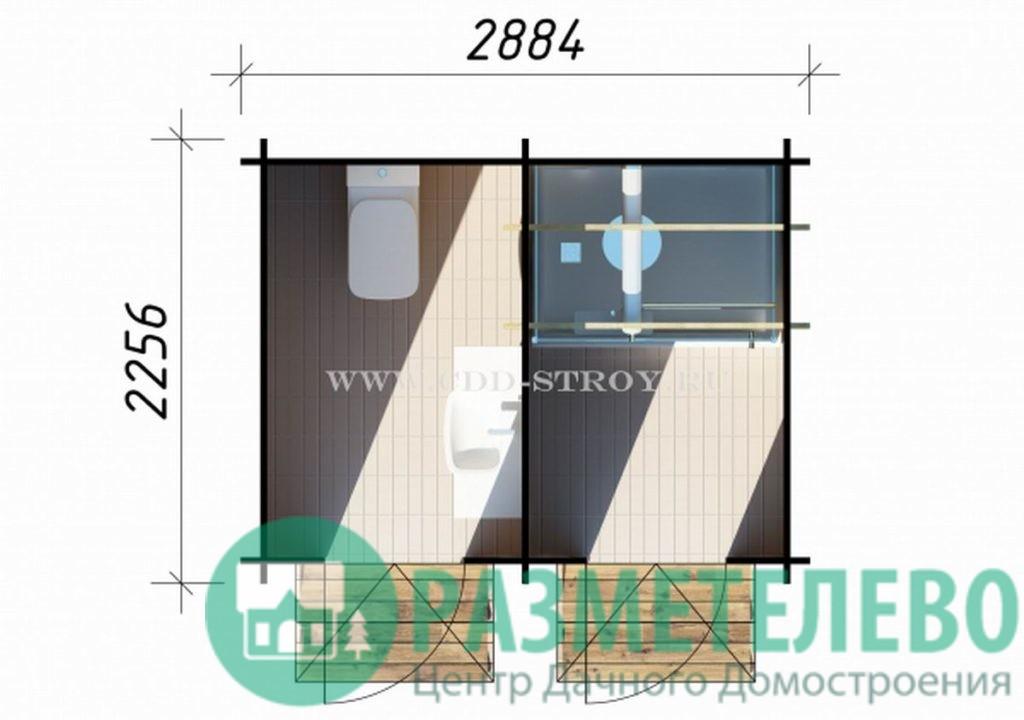 Домик садовый 2800х2200 (05)