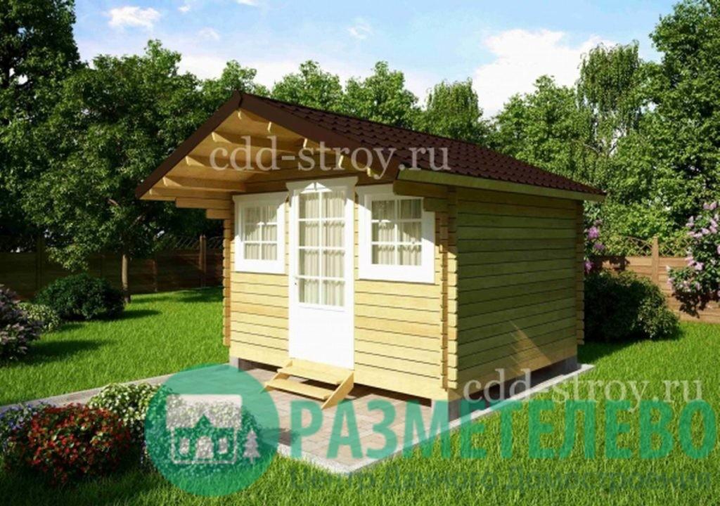 Домик садовый 3800х3000 (08)