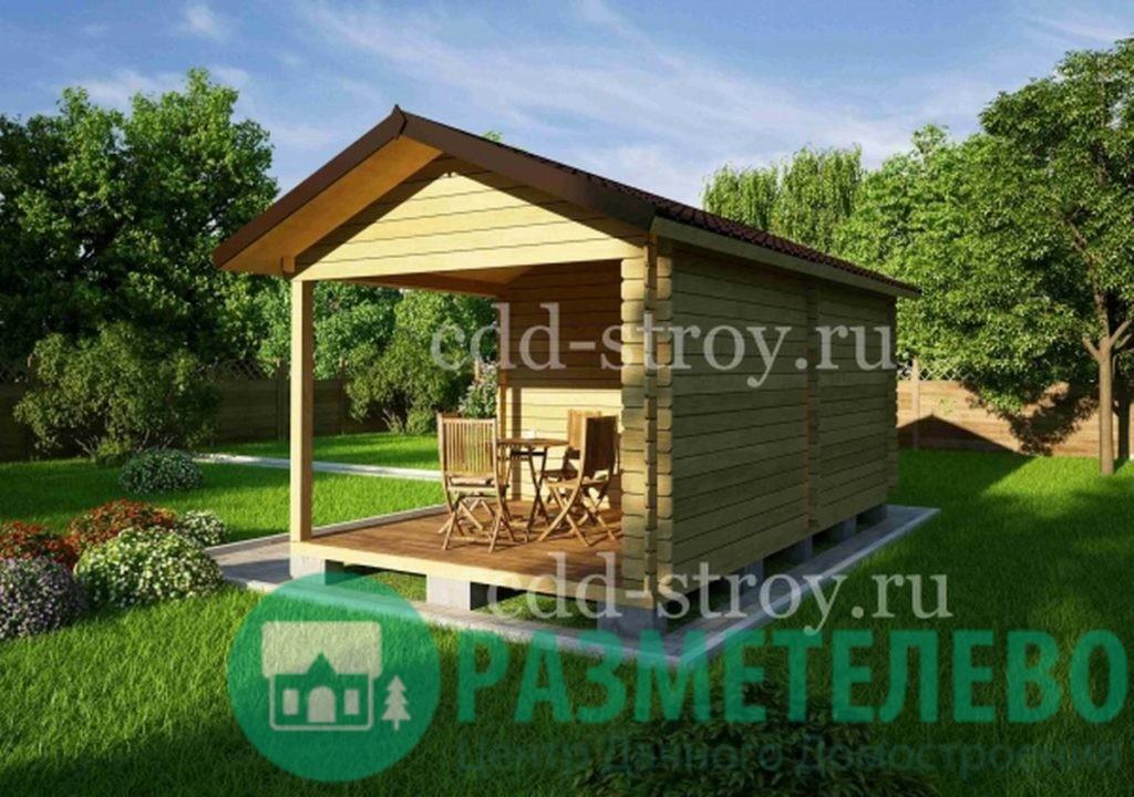 Домик садовый с навесом 3000х3000 (10)