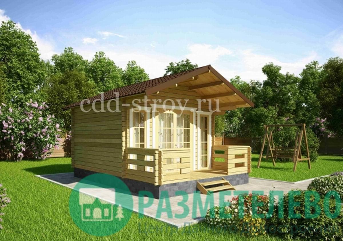 Домик садовый с верандой 3800х3800 (12)
