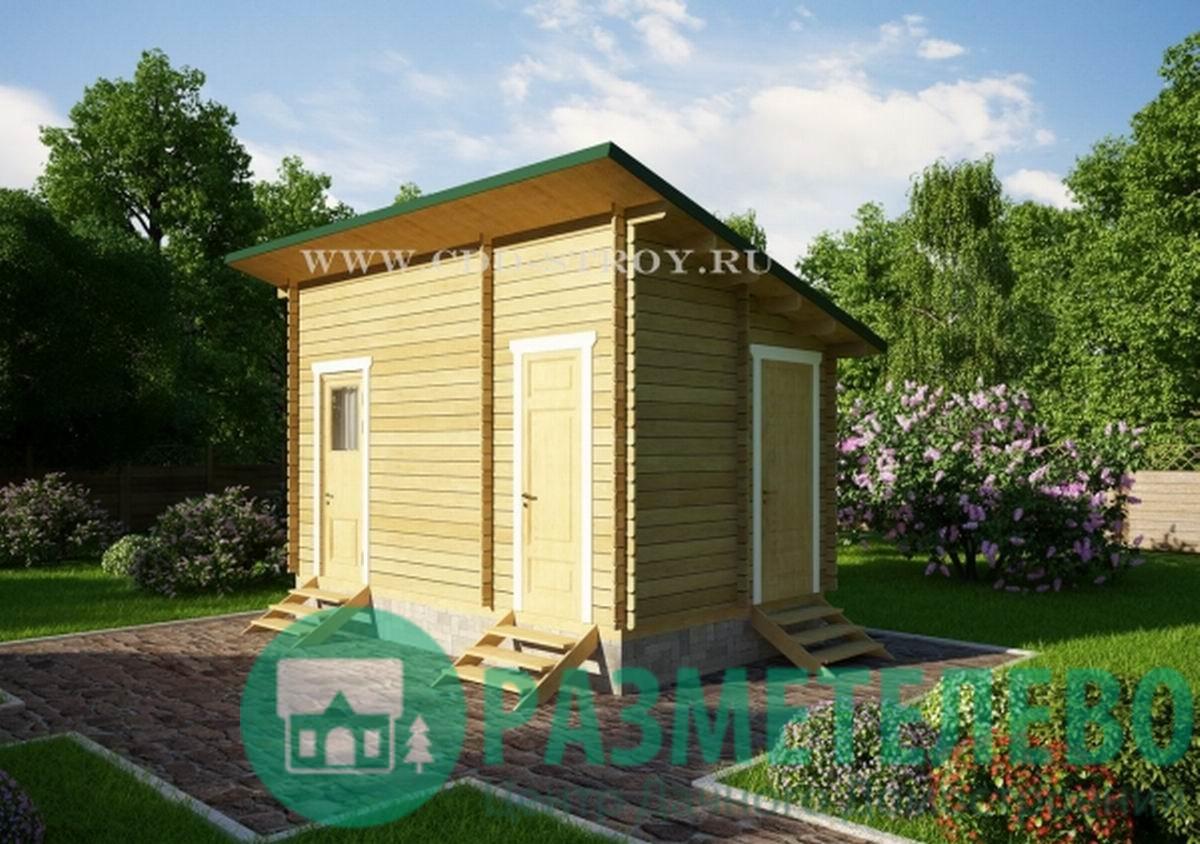 Домик садовый, хозблок 3000х5000 (17)