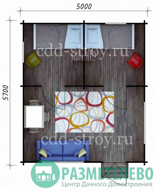 Дом садовый 5000х5700 (20)
