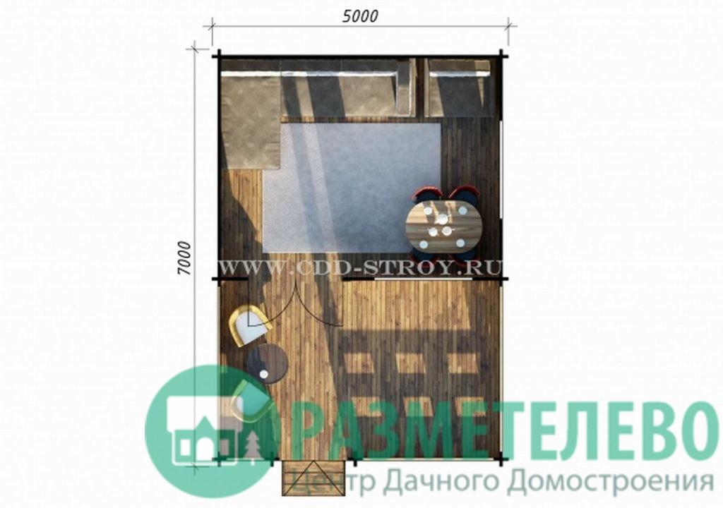 Дачный домик 5000х7000 (21)