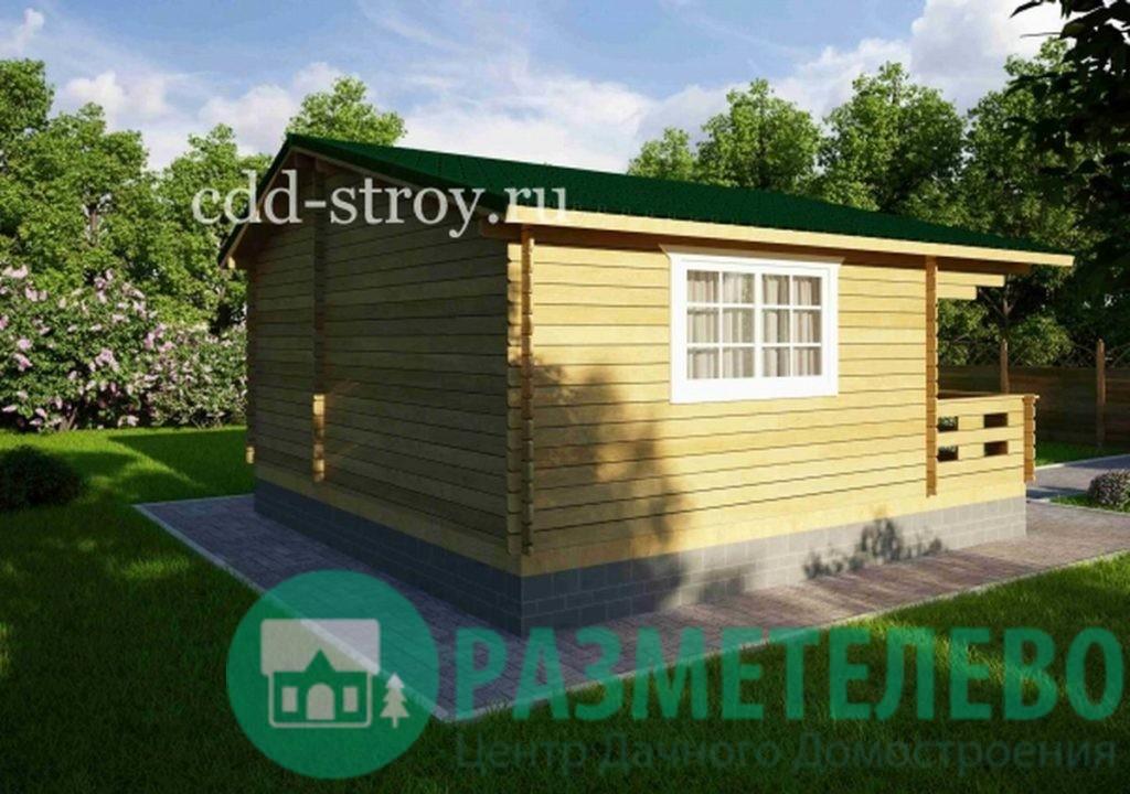 Дом садовый с верандой 6000х4500+1500